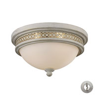 ELK Lighting Signature 2 Light Flush Mount in Antique White 20110/2-LA