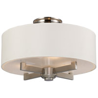 Seven Springs 3 Light 18 inch Satin Nickel Semi-Flush Mount Ceiling Light, Trump Home