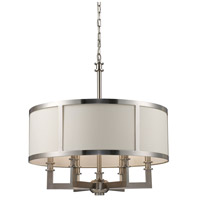 Seven Springs 6 Light 22 inch Satin Nickel Chandelier Ceiling Light, Trump Home