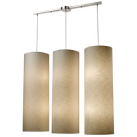 Fabric Cylinders 12 Light 43 inch Satin Nickel Pendant Ceiling Light in Standard