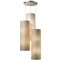 Fabric Cylinders 12 Light 28 inch Satin Nickel Pendant Ceiling Light in Standard