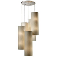 Fabric Cylinders 20 Light 33 inch Satin Nickel Pendant Ceiling Light in Standard