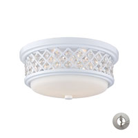 ELK Lighting Signature 2 Light Flush Mount in White 20197/2-LA