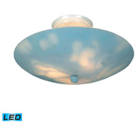 ELK 202-CL-LED Kidshine LED 17 inch White Semi Flush Mount Ceiling Light