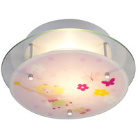 ELK 21008/2 Novelty 2 Light 13 inch Satin Nickel Semi Flush Mount Ceiling Light in Standard, Magic Wand and Floral Motif