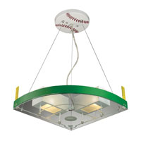 ELK Lighting Novelty 2 Light Pendant in White and Green 21013/2