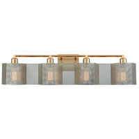 ELK 21108/4 Compartir 4 Light 35 inch Satin Brass with Polished Nickel Vanity Light Wall Light alternative photo thumbnail