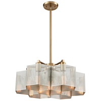 ELK 21113/7 Compartir 7 Light 20 inch Polished Nickel with Satin Brass Pendant Ceiling Light