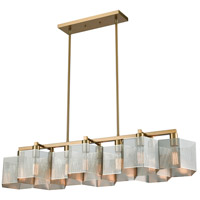 Compartir 10 Light 42 inch Polished Nickel with Satin Brass Billiard Light Ceiling Light