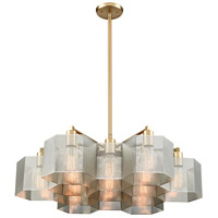 Compartir 13 Light 30 inch Polished Nickel with Satin Brass Pendant Ceiling Light