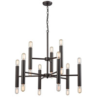 ELK 21156/12+6 Cameron 18 Light 32 inch Oil Rubbed Bronze Chandelier Ceiling Light