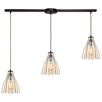 ELK 21182/3L Matilda 3 Light 36 inch Oil Rubbed Bronze Pendant Ceiling Light in Linear with Recessed Adapter