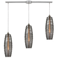 ELK 21193/3L Liz 3 Light 36 inch Satin Nickel Pendant Ceiling Light in Linear with Recessed Adapter