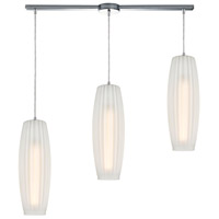 ELK 21220/3L Satin Veil 3 Light 36 inch Polished Chrome Pendant Ceiling Light in Linear with Recessed Adapter