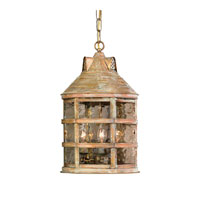 ELK Lighting Barnstable 3 Light Outdoor Hanging Lantern in Olde Bay 2135-WB photo thumbnail