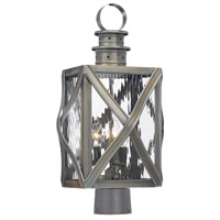 Dune Road 3 Light 19 inch Olde Bay Outdoor Post Light