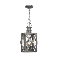 ELK Lighting Dune Road 3 Light Outdoor Pendant in Olde Bay 2144-WB