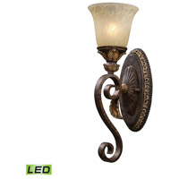 ELK Lighting Trump Home Westchester Regency 1 Light LED Wall Sconce in Burnt Bronze 2150/1-LED