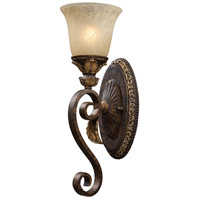 Regency 1 Light 6 inch Burnt Bronze And Gold Leaf Vanity Wall Light in Standard