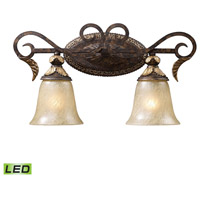Regency LED 20 inch Burnt Bronze And Gold Leaf Vanity Wall Light