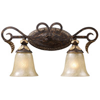 Regency 2 Light 20 inch Burnt Bronze Vanity Wall Light in Standard, Trump Home