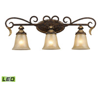 ELK 2152/3-LED Regency LED 30 inch Burnt Bronze And Gold Leaf Vanity Wall Light photo thumbnail