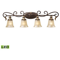 Regency LED 39 inch Burnt Bronze And Gold Leaf Vanity Wall Light in 4