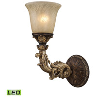 Regency LED 6 inch Burnt Bronze And Gold Leaf Wall Sconce Wall Light