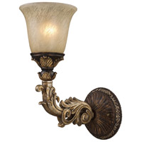 ELK 2154/1 Regency 1 Light 6 inch Burnt Bronze And Gold Leaf Wall Sconce Wall Light in Standard