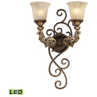 ELK Lighting Trump Home Westchester Regency 2 Light LED Wall Sconce in Burnt Bronze 2155/2-LED