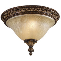 Regency 2 Light 16 inch Burnt Bronze Flush Mount Ceiling Light