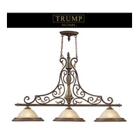 TRUMP HOME WESTCHESTER REGENCY 3 Light 57 inch Burnt Bronze Island Light Ceiling Light