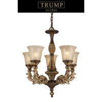ELK Lighting Trump Home Westchester Regency 5 Light Chandelier in Burnt Bronze 2162/5 photo thumbnail