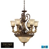 ELK Lighting Regency 9 Light Chandelier in Burnt Bronze 2164/6+3-LED