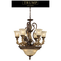 Regency 9 Light 28 inch Burnt Bronze Chandelier Ceiling Light in Standard, Trump Home