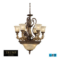 Regency LED 28 inch Burnt Bronze Chandelier Ceiling Light, Trump Home