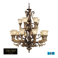 Regency LED 41 inch Burnt Bronze Chandelier Ceiling Light, Trump Home