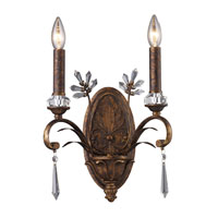 Emilion 2 Light 11 inch Burnt Bronze Sconce Wall Light