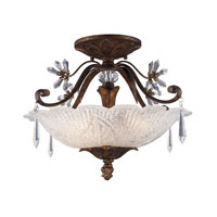 ELK Lighting Emilion 3 Light Semi-Flush Mount in Burnt Bronze 2181/3