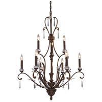 ELK Lighting Emilion 9 Light Chandelier in Burnt Bronze 2184/6+3