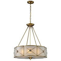 ELK 22001/6 Preston 6 Light 23 inch Brushed Brass Pendant Ceiling Light