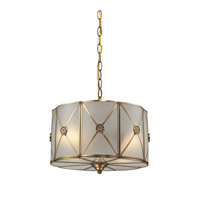 Preston 2 Light 14 inch Brushed Brass Pendant Ceiling Light