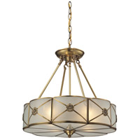ELK Lighting Preston 4 Light Pendant in Brushed Brass 22004/4