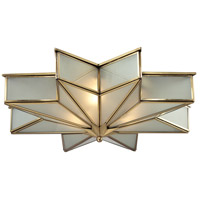 Decostar 3 Light 21 inch Brushed Brass Flush Mount Ceiling Light