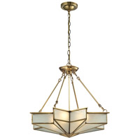 Decostar 4 Light 25 inch Brushed Brass Pendant Ceiling Light