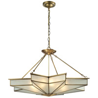 ELK Lighting Decostar 8 Light Pendant in Brushed Brass 22013/8