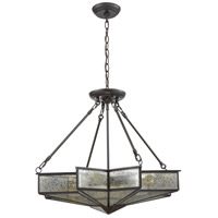Decostar 4 Light 25 inch Oil Rubbed Bronze Chandelier Ceiling Light
