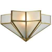 Decostar 1 Light 14 inch Brushed Brass Wall Sconce Wall Light