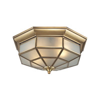 ELK Lighting Linoka 2 Light Flushmount in Brushed Brass 22016/2