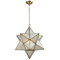 Decostar 3 Light 23 inch Brushed Brass Chandelier Ceiling Light